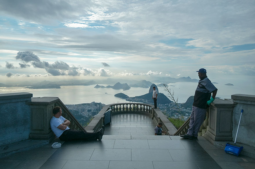 "This Photographer Points His Camera The ""Wrong"" Way At The World's Most Visited Locations - Christ The Redeemer, Rio De Janeiro, Brazil"