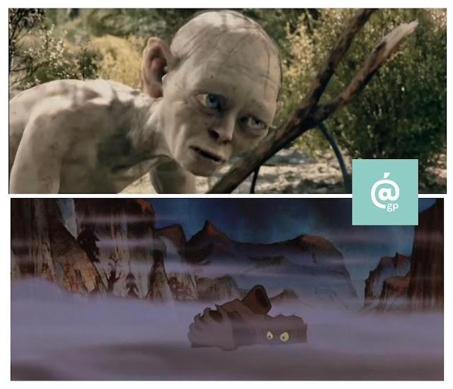 Gollum - El Señor de los Anillos: Peter Jackson Vs Ralph Bakshi - JRRTolkien - ÁlvaroGP - el fancine - el troblogdita