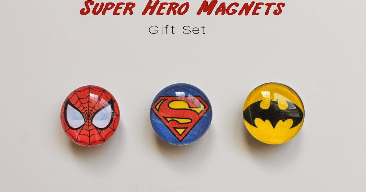 Serving Pink Lemonade Gifts Kids Can Make Super Hero Magnets