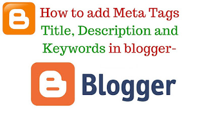 blogger meta tags keywords