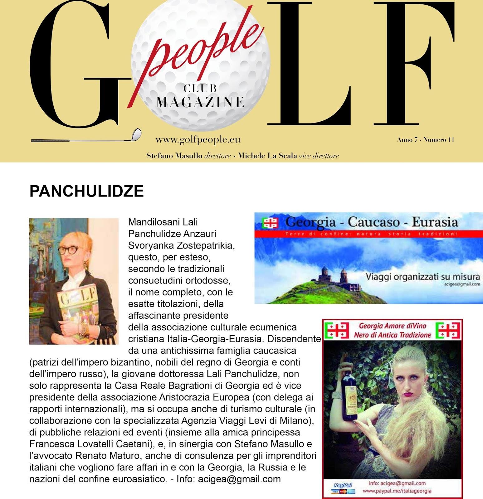 abbastanza ITALIA - GEORGIA - EURASIA: Golf People la rivista di cultura  ZN02