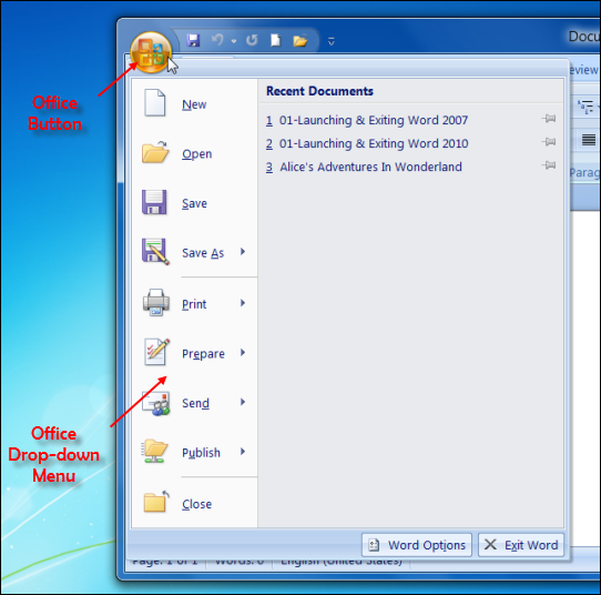 Iti Copa With Suman Creating And Saving Ms Word 2007 Documents