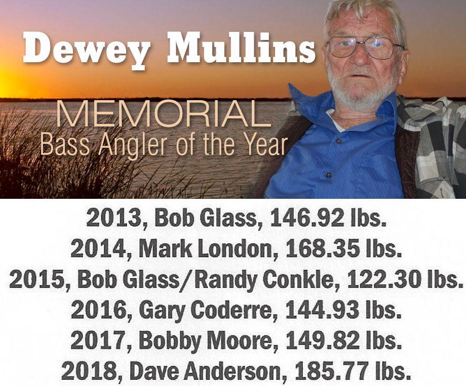 Dewey Mullins Memorial Bass Angler of the Year