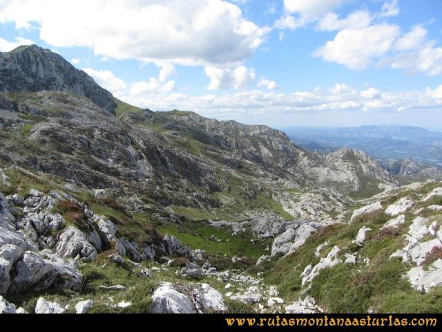 Ruta al Cabezo Llerosos desde La Molina: Bajando a la majada Ceribios