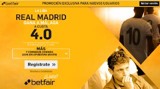 betfair supercuota 4 Real Madrid gana Malaga Liga 21 enero