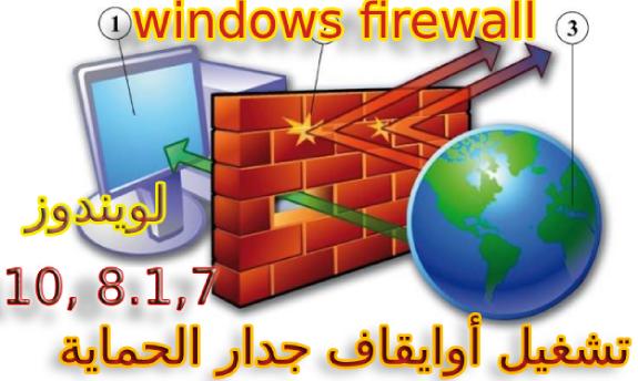 طريقة تشغيل أوايقاف جدار الحماية ، الجدار الناري Windows Firewall في ويندوز8 - 8.1