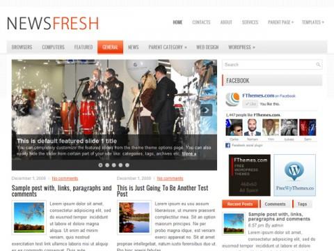 Free NewsFresh News/Magazine WordPress Theme