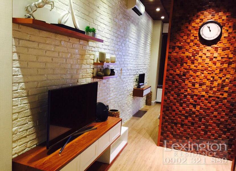 dự án lexington cho thuê căn hộ 1 phòng ngủ - tivi màn hình lớn