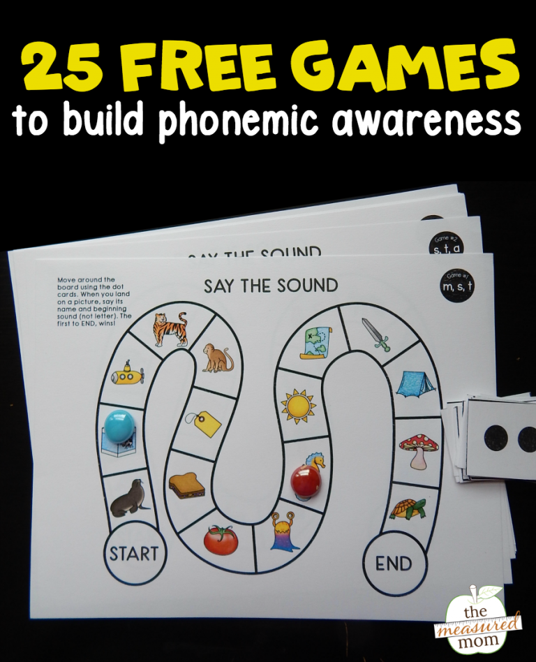 Revered image within phonemic awareness printable games