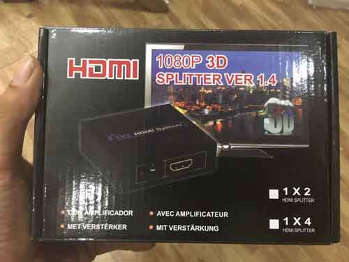 Bộ chia HDMI 1 ra 2 1080 3D giá sỉ và lẻ rẻ nhất