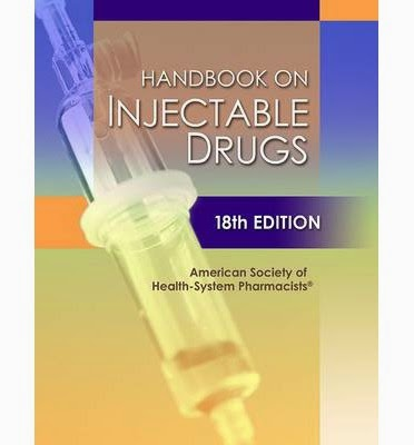 Handbook on Injectable Drugs, 18th Edition - ASHP ~ Novabooks