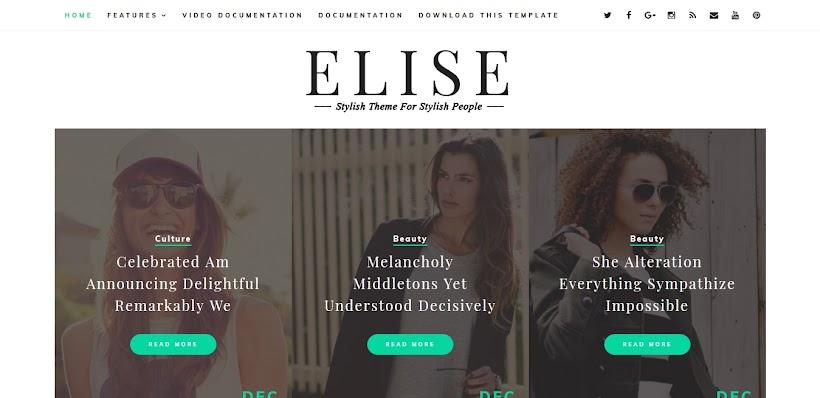Elise Free Blogger Template