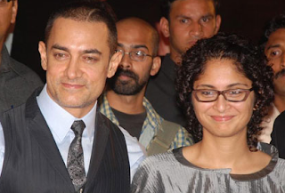 Foto Aamir Khan dengan Istrinya Kiran Rao