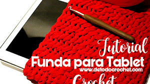 Funda para Tablet a Crochet / Tutorial Principiantes