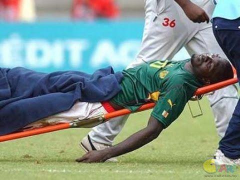Albert Ebosse pemain sepak bola yang tewas usai mencetak gol