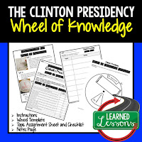 President Clinton, Progressive Era, American History Activity, American History Interactive Notebook, American History Wheel of Knowledge