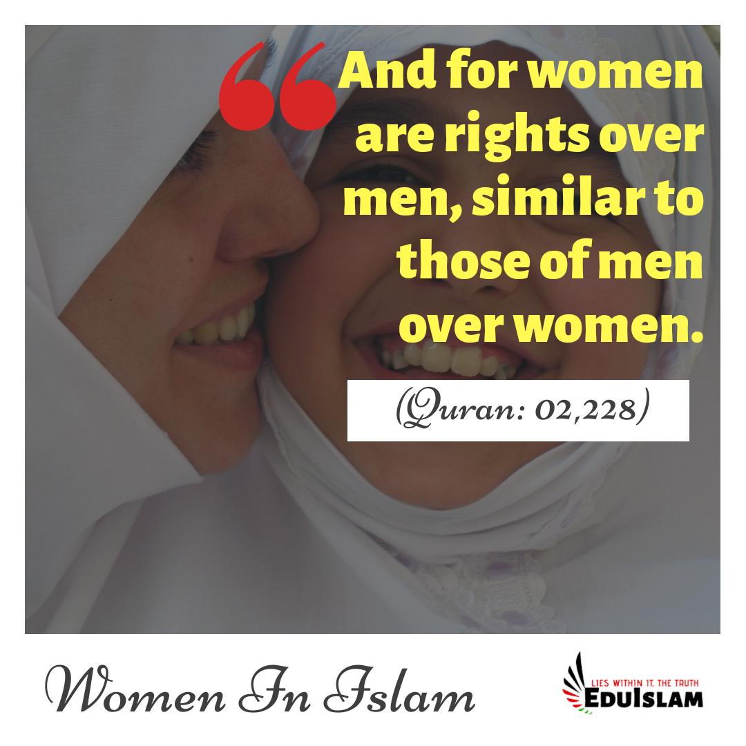 Importance of women in Islam, Quran about Women, Status of women in Islam