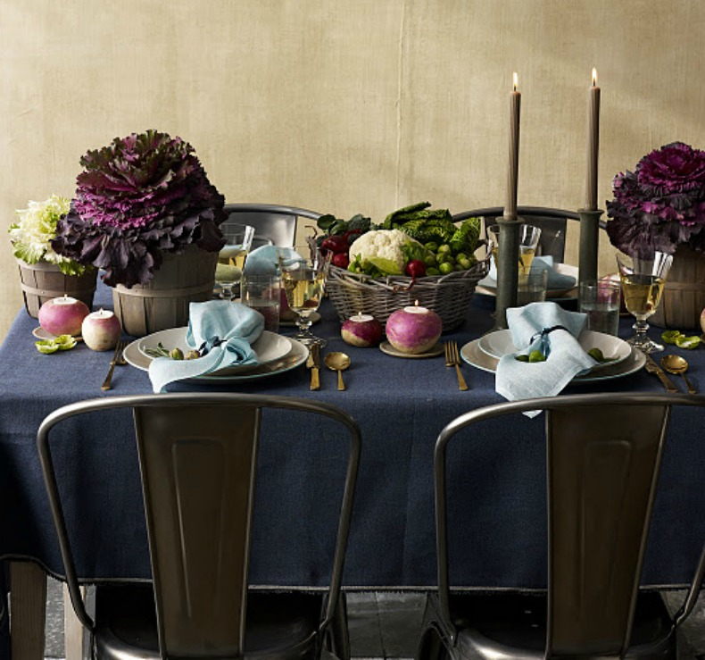 coastal dinner tablescape