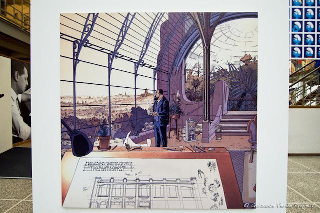 Ilustración homenaje a Victor Horta en el Museo del Cómic, por El Guisante Verde Project