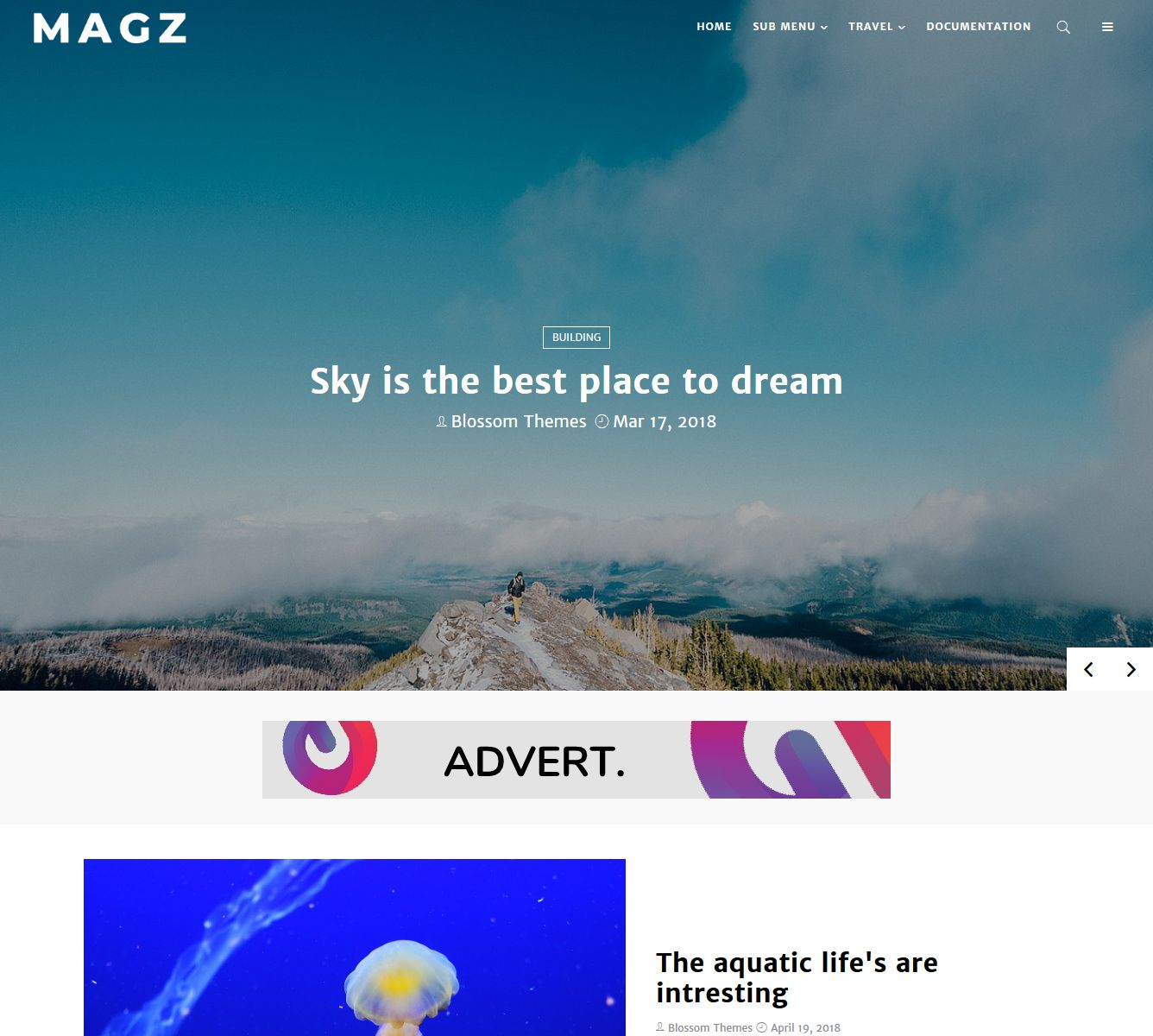 template blogger magz download gratis