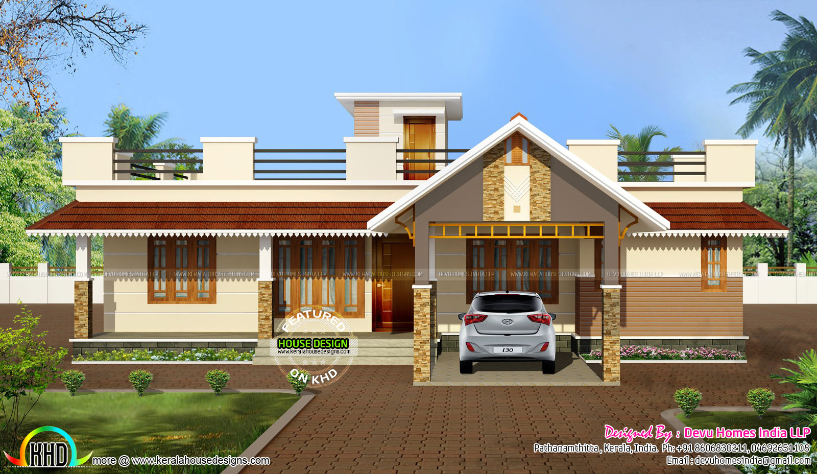 Traditional Mix Single Floor Exterior Home Kerala Home Design And Floor Plans