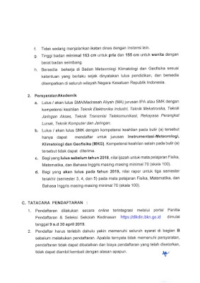 Ikatan Dinas STMKG Sekolah Tinggi Meteorologi Klimatologi dan Geofisika