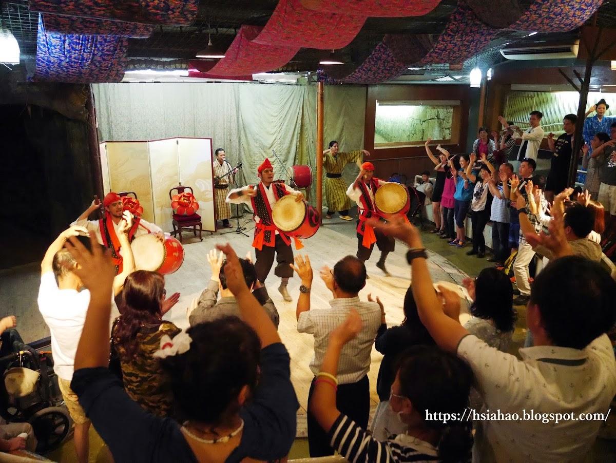 沖繩-景點-中部-琉球村-陣太鼓-自由行-旅遊-Okinawa-Ryukyumura-eisa-performance