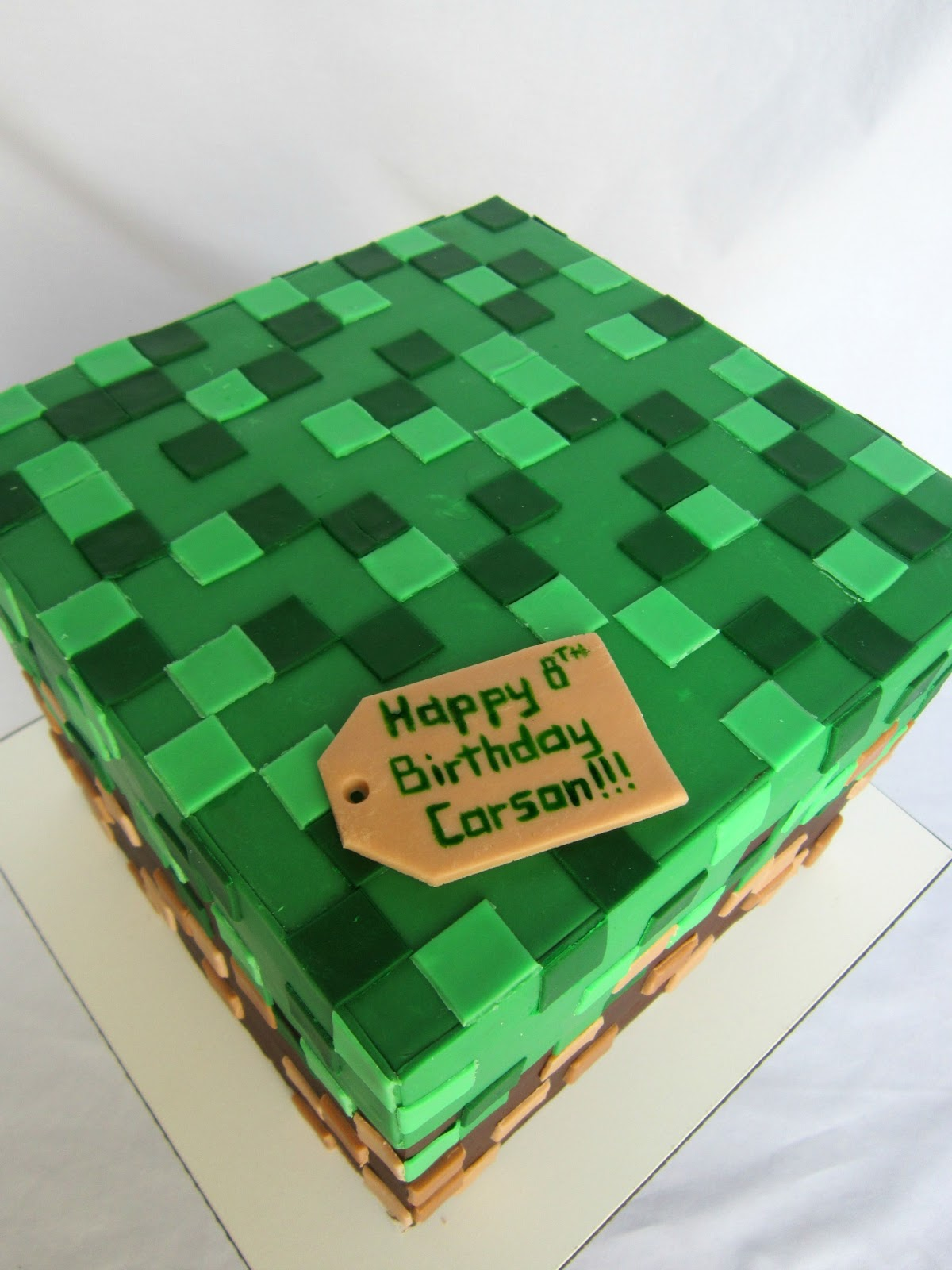 Delectable Cakes Minecraft Box Birthday Cake