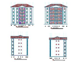 مخطط مبنى سكني 5 طوابق
