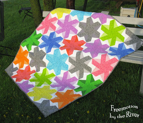 Bloom bloom pow quilt at Freemotion by the River