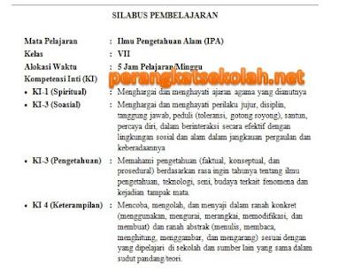 Perangkat Pembelajaran IPA SMP/ MTs K-13 Lengkap (Promes, Prota, Silabus, Dan RPP) Kelas 7, 8, dan 9