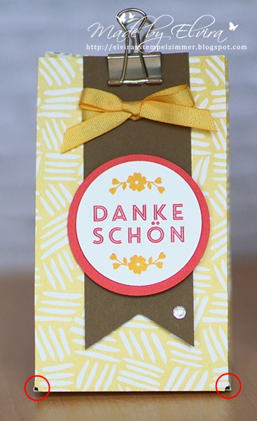 Gift Bag Punch Board - orginale Falzlinie