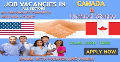 200+ Job Vacancies in Canada & USA – Apply Now