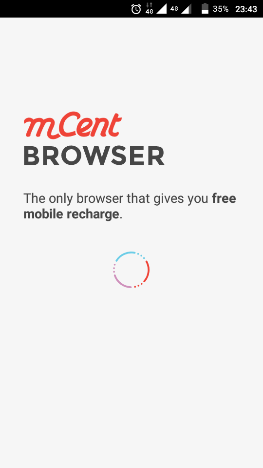 Digital Cashout: Earn Free Recharge Card With Mcent Browser