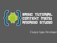 Belajar Membuat Menu Konteks di Android Studio