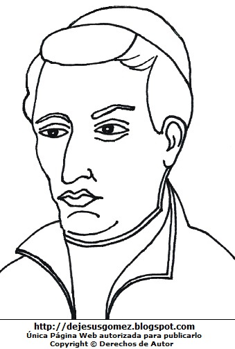Dibujo de Toribio Rodríguez de Mendoza para colorear, pintar e imprimir para niños. Imagen de Toribio Rodríguez de Mendoza de Jesus Gómez
