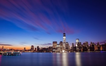 Wallpaper: New York City Skyline Sunrise