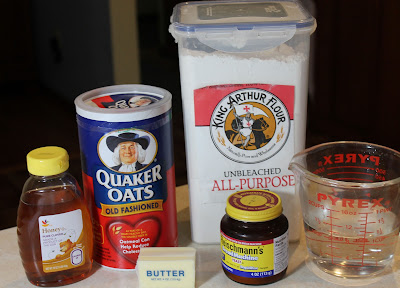 Honey-Oat Bread Ingredients