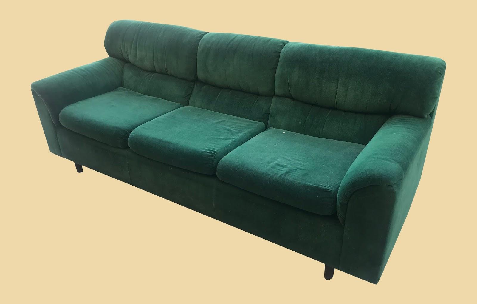 Green Microfiber Sofa 95 20 Bargain Sold