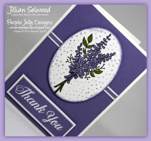 Sale-A-Bration, Lots of Lavender stamp Set, Thank you card, Wisteria Wonder