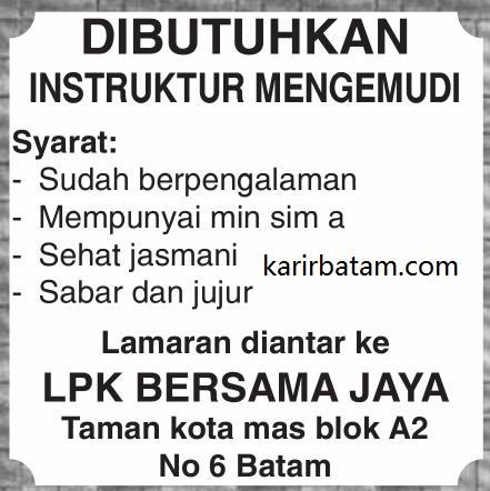 Lowongan Kerja LPK Bersama Jaya