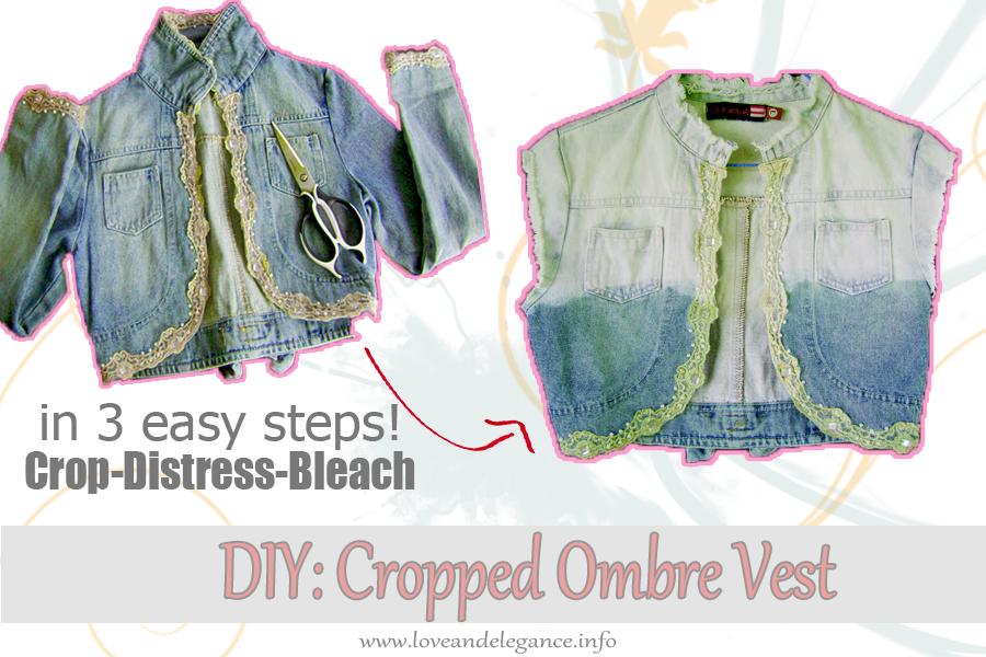DIY Cropped Ombre Vest