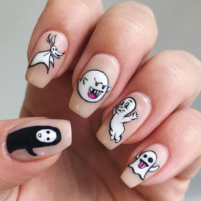37+ Halloween Ghost Nail Art Ideas With Tips to DIY Ghost ...