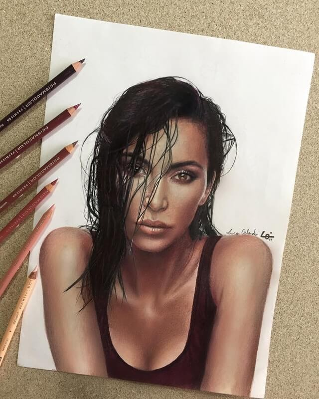 06-Kim-Kardashian-Luca-Orlando-Celebrity-Drawn-with-Colored-Pencils-www-designstack-co