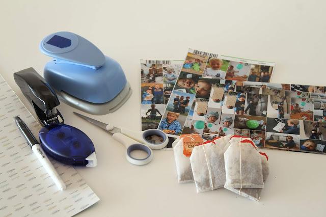Material DIY Tee-Adventskalender mit Fotos aus dem Jahr Jules kleines Freudenhaus