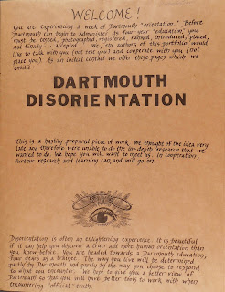 Cover to Dartmouth Disorientation