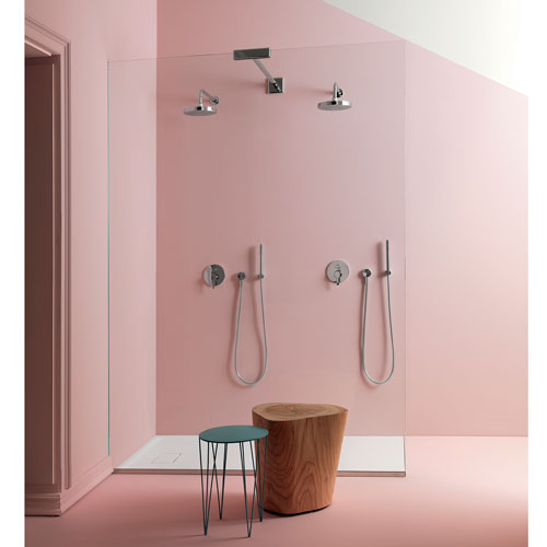rose quartz bathroom