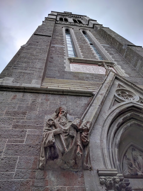 Church tower at St. Patrick's College in Maynooth, Ireland