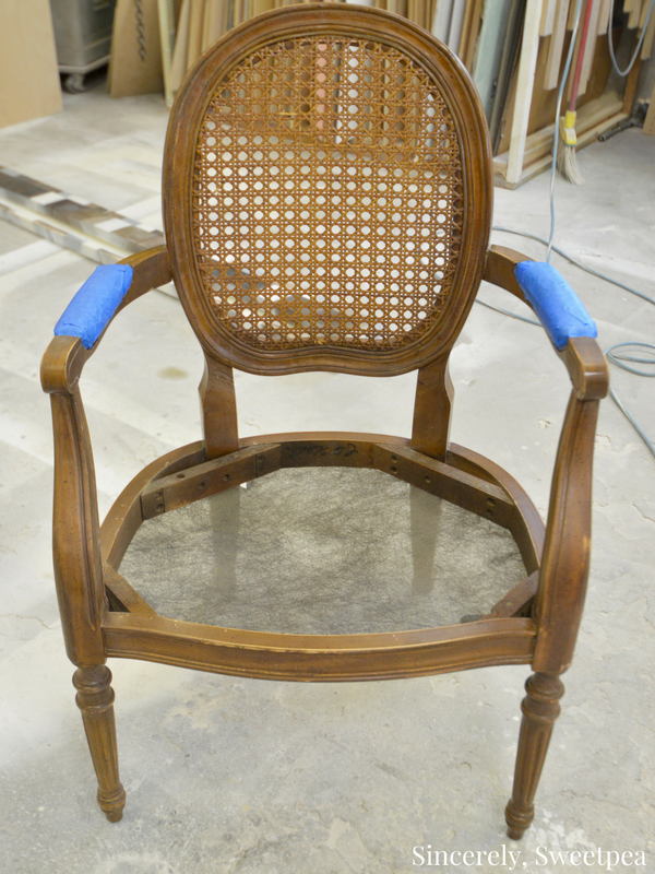 Cane chair reupholstering tutorial