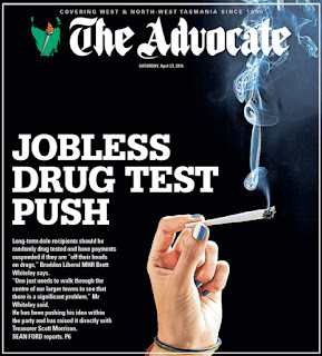 the advocate drugs front page tasmania